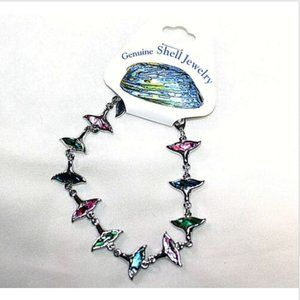 Fashion Bracelet Genuine Paua Shell Sea Tail Fins